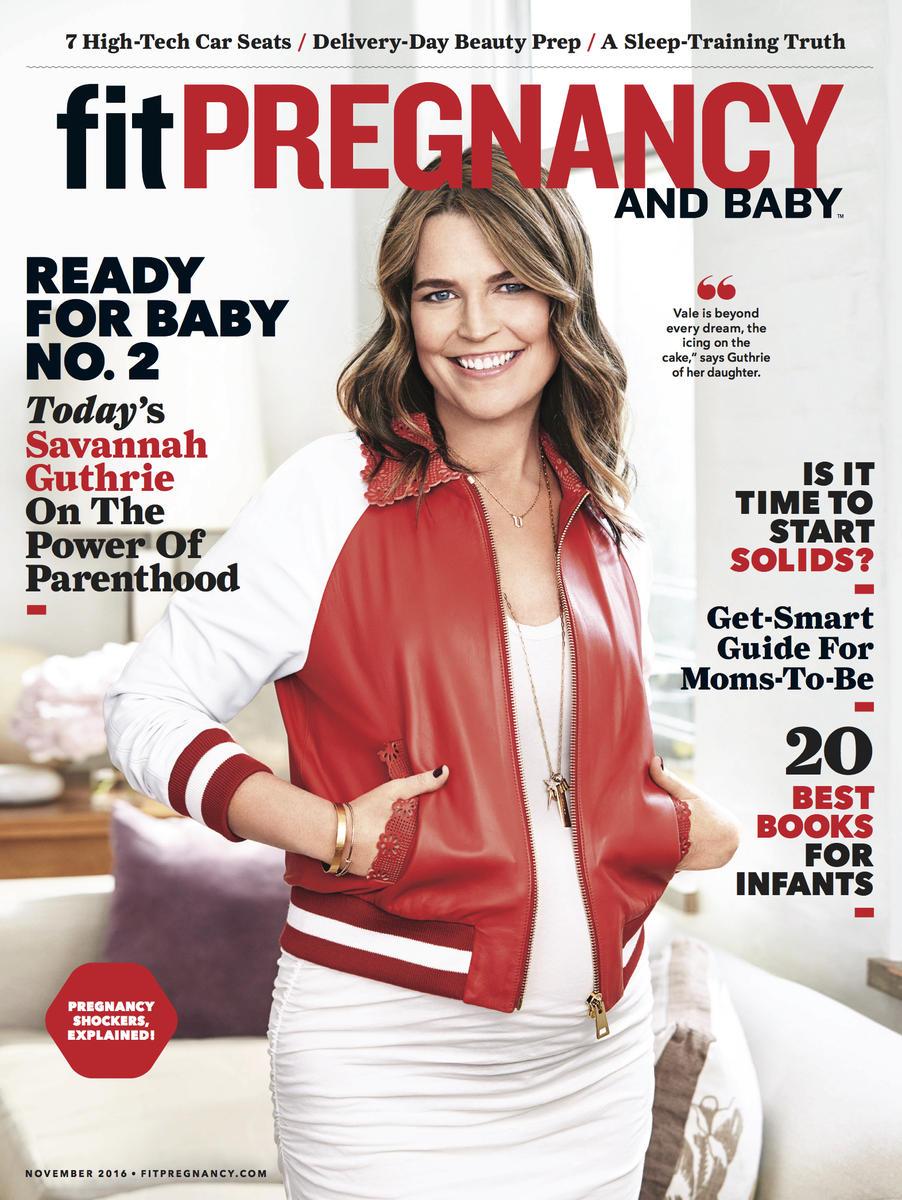 Savannah Guthrie November Fit Pregnancy COVER