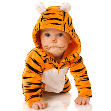 baby dressed as tiger