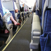 aisle seat of a plane