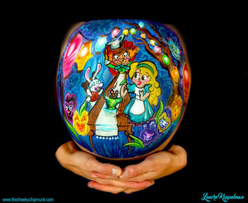 Alice in Wonderland Belly Art