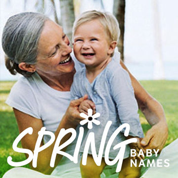 toddler and grandmother laughing