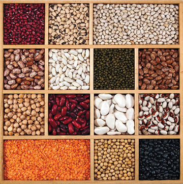 colorful beans and legumes