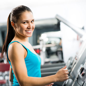 Pregnant woman on treadmill