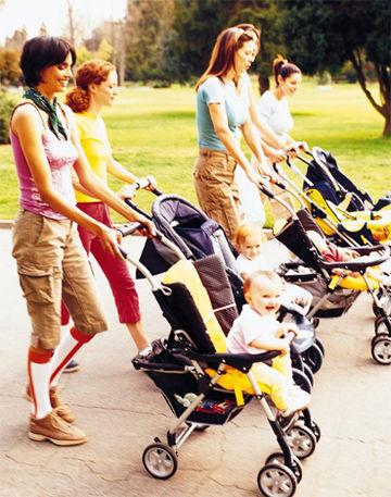 Postpartum workout group
