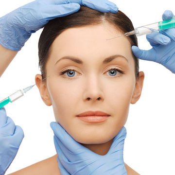 woman getting dermal fillers