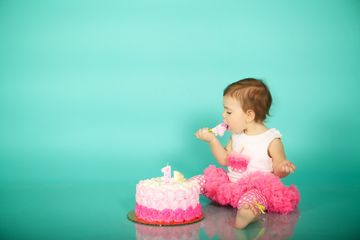 Baby at Her First Birthday Party