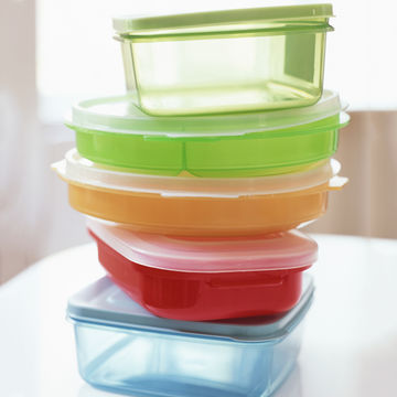 Tupperware stacked up