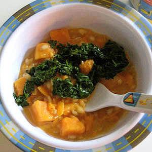 Sweet Potato-Barley Risotto with Garlic Kale | Fit ...