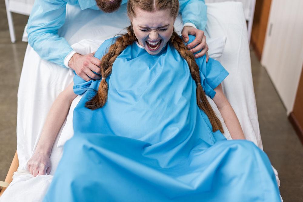 Pregnant Pushing 58
