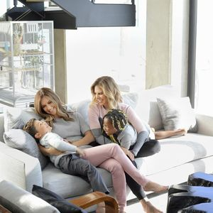 Jillian Michaels Family Shot On Couch