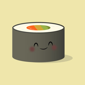 Sushi Roll Illustration