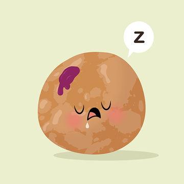 Jelly Donut Hole Illustration