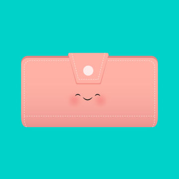 Cute Vintage Wallet Illustration