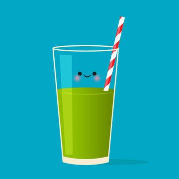 Kale Smoothie Illustration