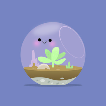 Terrarium Illustration