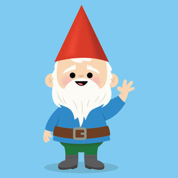 Garden Gnome Illustration