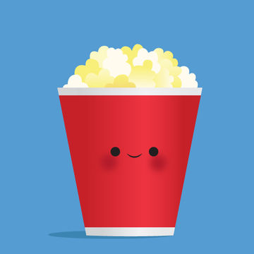 Movie Popcorn Illustration
