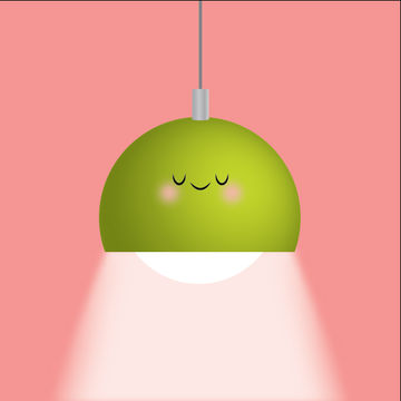 Modern Hanging Lamp Illustration