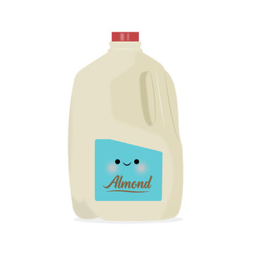 Gallon of Almond Milk Illustration