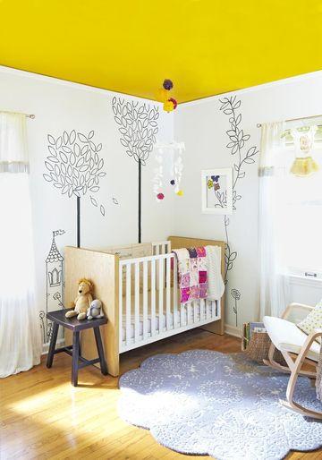 Bold Hue Nursery Yellow Theme