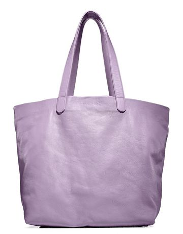 Luxe Leather Purple Bag