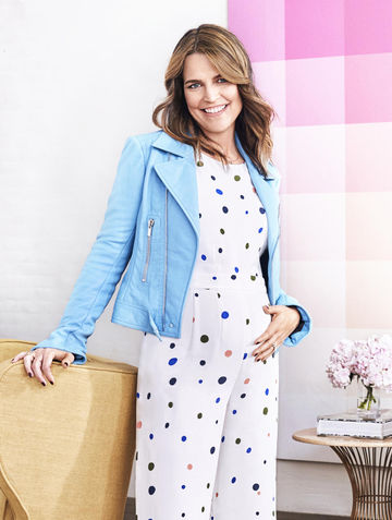 Savannah Guthrie November Fit Pregnancy Blue Jacket