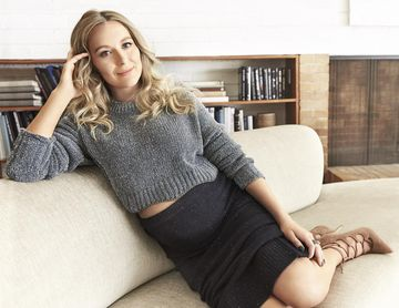 Alexa PenaVega Laying On Couch