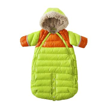 7 AM Enfant Doudoune Jacket Green and Orange