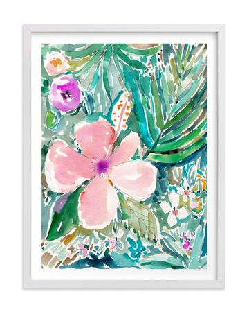 Tropical Nursery Hibiscus Print