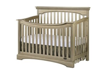 Evolur Windsor Catalina 5-in-1 Convertible Crib Pewter