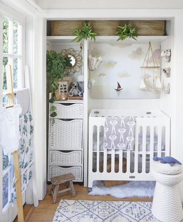 Closet Nursery Cottage Theme