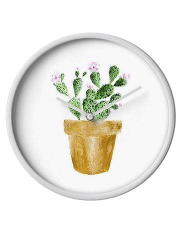 Cactus Nursery Handmade Cactus Wall Clock