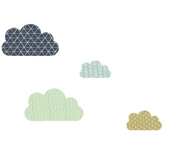 Hot Air Balloon Nursery Removable Wall Decals of Clouds