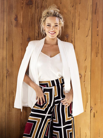 Peta Murgatroyd White Top and Pattern Pants