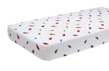 Bird Nursery Muslin Crib Matress Sheet