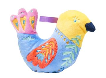 Bird Nursery Embroidered Rattle