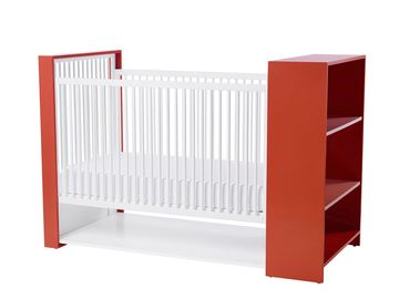 Bird Nursery AJ Crib with Shelves and Storage