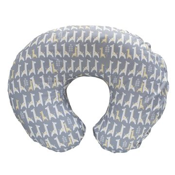 Boppy Pillow Gray with Giraffe Print