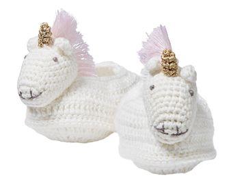 Unicorn Nursery Crocheted Unicorn Booties