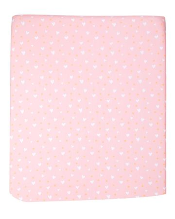 Unicorn Nursery ED Ellen DeGeneres Pink Hearts Crib Sheet