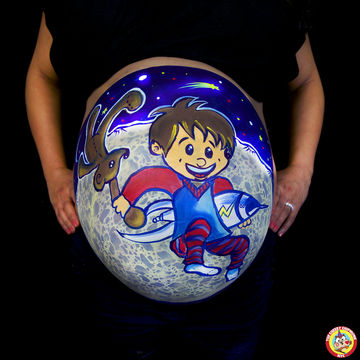 Spaceship Belly Art