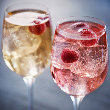 Easy Mocktails for Two Grape Escape Raspberries in Glass