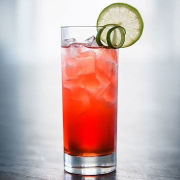 Easy Mocktails for Two Lemon Kiss Pink Drink With Lime Wedge