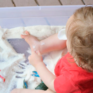 Edible Sand - Outdoor Activities with Baby