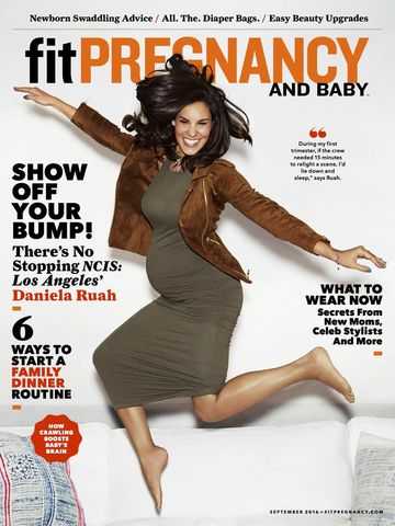 Daniela Ruah on Fit Pregnancy and Baby September Cover