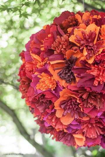 Flower Crepe Paper Pinata
