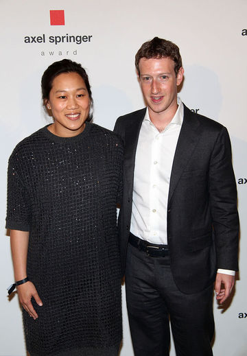 Priscilla Chan and Mark Zuckerberg in 2016