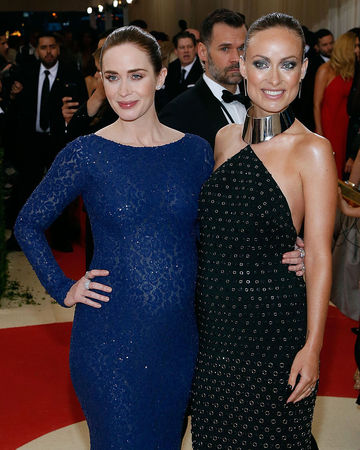 Olivia Wilde and Emily Blunt at 2016 Met Gala