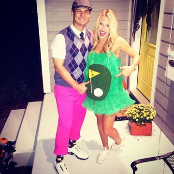 Hole in One  sc 1 st  Fit Pregnancy & 8 Pregnant Halloween Costumes for Couples | Fit Pregnancy and Baby