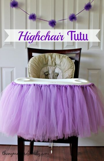 No-Sew Highchair Tutu
